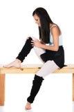 Injured modern dancer Stock Photo