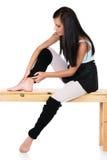 Injured modern dancer Royalty Free Stock Photo