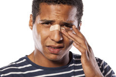 Injured nose Stock Photography