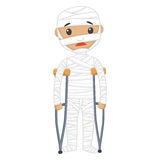 Injured Patient with Bandages. Vector Illustration of Injured Patient with Bandages Royalty Free Stock Photo