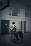 Injured player in the basketball arena Royalty Free Stock Photography