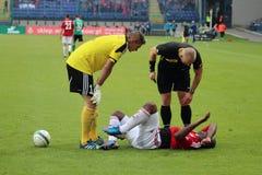 Injured player Royalty Free Stock Image