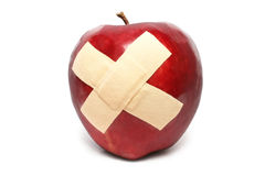 Injured Red Apple Stock Images