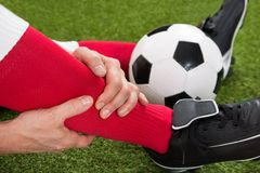 Injured soccer player Stock Photo