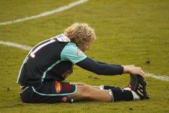 Injured Stepan Kores from Slavia Prague Royalty Free Stock Photos