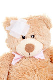 Injured Sweet Teddy Bear Royalty Free Stock Photo