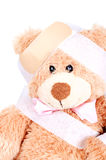 Injured Sweet Teddy Bear Stock Photo