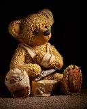 Injured Teddy Bear Royalty Free Stock Photography