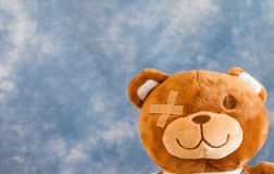 Injured Teddy Bear Royalty Free Stock Photo