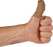 Injured thumbs up Royalty Free Stock Image