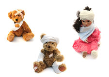 Injured toys Stock Photography