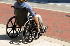 Injured Wheelchair Man Royalty Free Stock Images