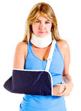 Injured woman Royalty Free Stock Photos