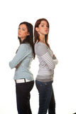 Injured women. Two young women snapped and injured in a fight Royalty Free Stock Image