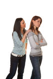 Injured women. Two young women snapped and injured in a fight Stock Image
