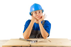 Injured worker Stock Photo