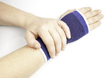 Injured wrist Royalty Free Stock Photography