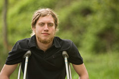 Injured young man Stock Images