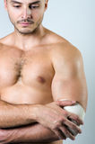 Injury. The photo show injury of joint Royalty Free Stock Photo