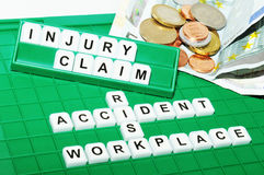 Injury claim Stock Image