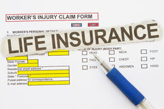 Injury Claim Form Stock Photo