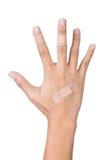 Injury hand Royalty Free Stock Photography