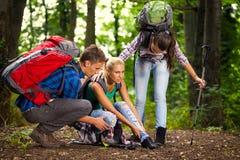 Injury during hiking Stock Images
