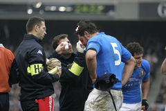 Injury,Ireland V Italy,6 Nations Rugby Stock Photos