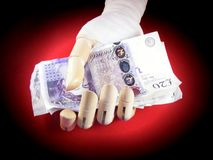 Injury payout Stock Photography