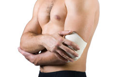 Injury. The photo show injury of joint Royalty Free Stock Image