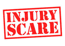 INJURY SCARE Royalty Free Stock Photography