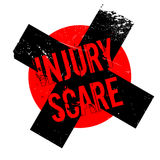 Injury Scare rubber stamp. Grunge design with dust scratches. Effects can be easily removed for a clean, crisp look. Color is easily changed Royalty Free Stock Photography