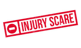 Injury Scare rubber stamp. Grunge design with dust scratches. Effects can be easily removed for a clean, crisp look. Color is easily changed Stock Photography