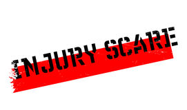 Injury Scare rubber stamp. Grunge design with dust scratches. Effects can be easily removed for a clean, crisp look. Color is easily changed Royalty Free Stock Images
