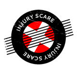Injury Scare rubber stamp. Grunge design with dust scratches. Effects can be easily removed for a clean, crisp look. Color is easily changed Stock Images