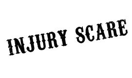 Injury Scare rubber stamp. Grunge design with dust scratches. Effects can be easily removed for a clean, crisp look. Color is easily changed Royalty Free Stock Image