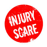 Injury Scare rubber stamp. Grunge design with dust scratches. Effects can be easily removed for a clean, crisp look. Color is easily changed Stock Photos