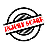 Injury Scare rubber stamp. Grunge design with dust scratches. Effects can be easily removed for a clean, crisp look. Color is easily changed Stock Image