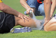 Injury treating Stock Image