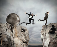 Injustice in business competition stock photo