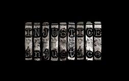 Injustice concept Stock Photos