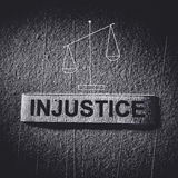 Injustice. Imbalance concept in the dark tone royalty free stock photography