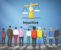 Injustice Inequity Conflict Rebellion Antagonism Concept Royalty Free Stock Images