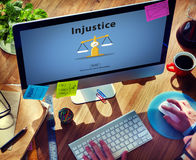 Injustice Inequity Conflict Rebellion Antagonism Concept Royalty Free Stock Photos