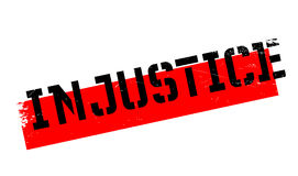 Injustice rubber stamp Royalty Free Stock Image