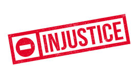 Injustice rubber stamp Stock Image