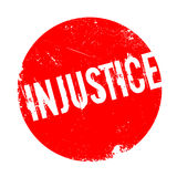 Injustice rubber stamp Royalty Free Stock Photo