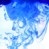 Ink. Abstract backdrop. Blue universe. Cloud of ink. Abstract in Stock Image