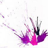 Ink abstract hand-drawn background with drops and splashes with Stock Photo