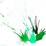 Ink abstract hand-drawn background with drops and splashes with Stock Image